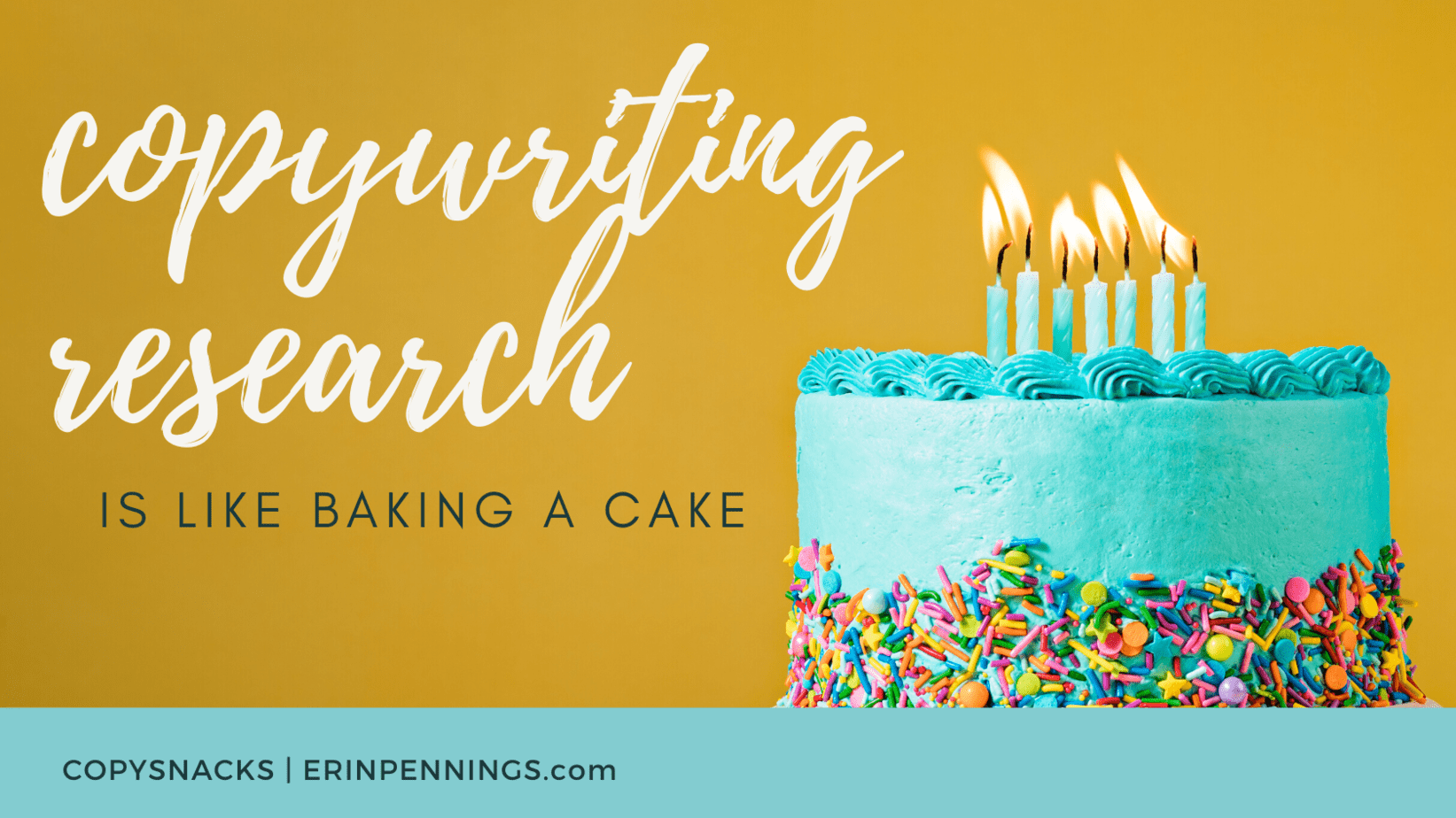 Copywriting Research is Like Baking a Cake