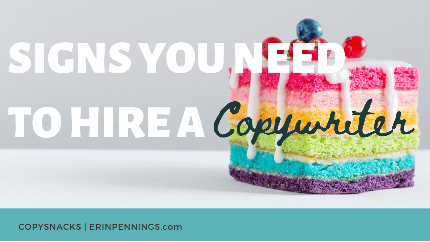 Signs you need to hire a copywriter