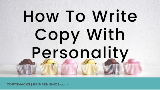 How To Write Copy With Personality