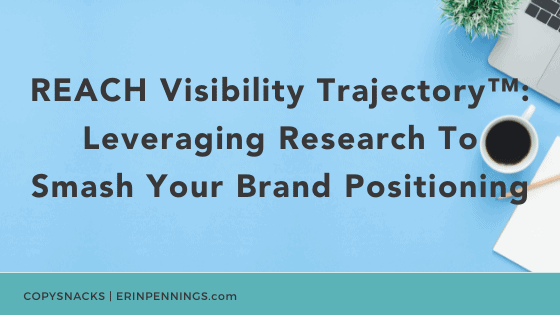 REACH Visibility Trajectory™: Leveraging Research To Smash Your Brand Positioning